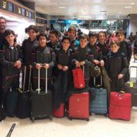 Infantiles viajando al IV Edición del Torneo Internacional Infantil Fútbol Sala Villa de la Orotava