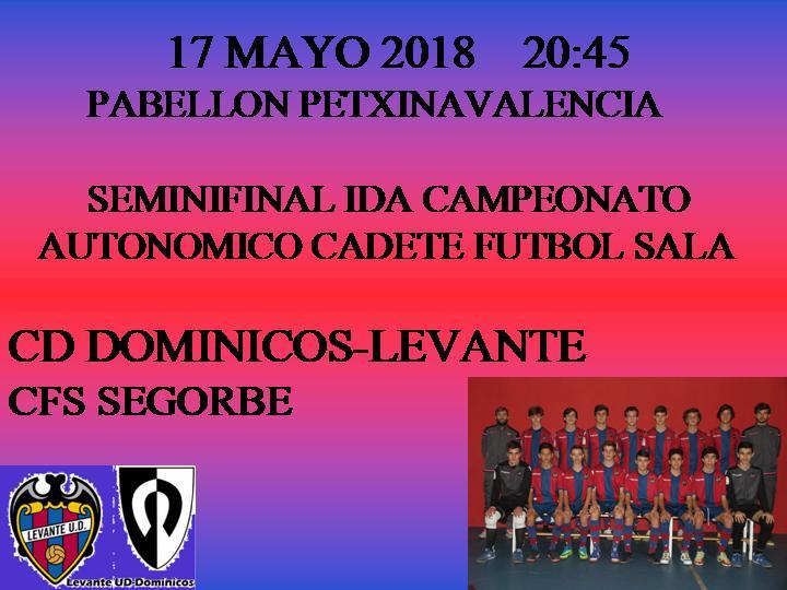Ida de la Semifinal del Campeonato Autonómico categoría Cadetes